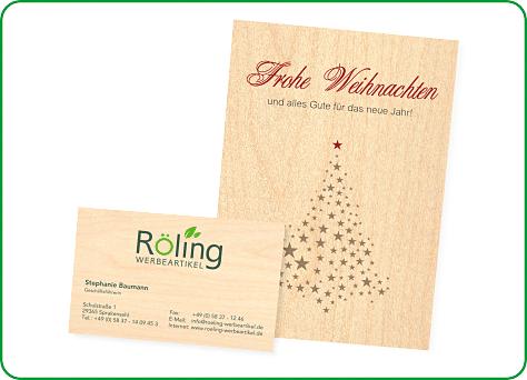 Holz Weihnachtskarten.Röling Werbeartikel Werbemittel Von Stephanie Röling Nachhaltig